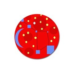 Red sky Magnet 3  (Round)