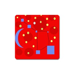 Red sky Square Magnet
