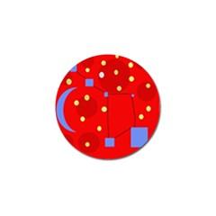 Red sky Golf Ball Marker