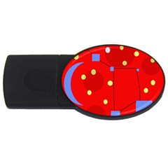 Red sky USB Flash Drive Oval (2 GB)