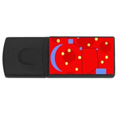 Red sky USB Flash Drive Rectangular (1 GB)