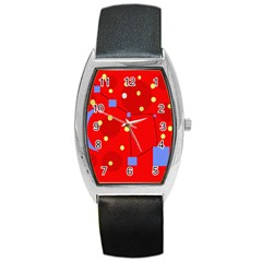 Red sky Barrel Style Metal Watch