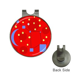 Red sky Hat Clips with Golf Markers