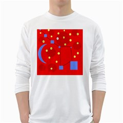 Red sky White Long Sleeve T-Shirts