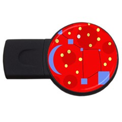 Red sky USB Flash Drive Round (4 GB)