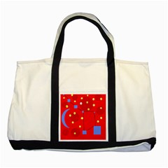 Red sky Two Tone Tote Bag