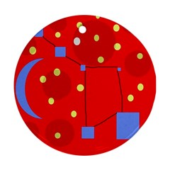 Red sky Round Ornament (Two Sides)