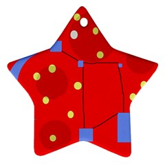 Red sky Star Ornament (Two Sides)