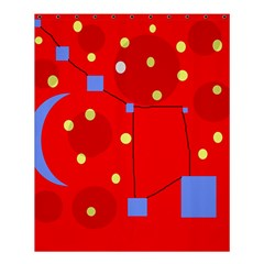 Red sky Shower Curtain 60  x 72  (Medium)