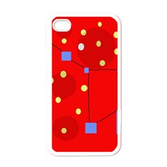 Red sky Apple iPhone 4 Case (White)