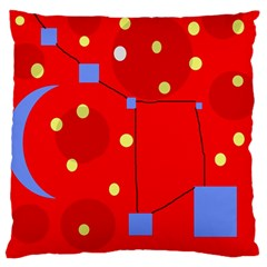 Red sky Large Cushion Case (One Side)