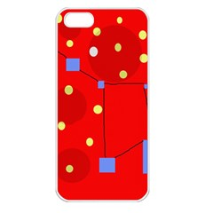 Red sky Apple iPhone 5 Seamless Case (White)