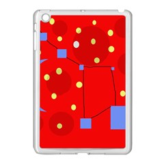 Red sky Apple iPad Mini Case (White)