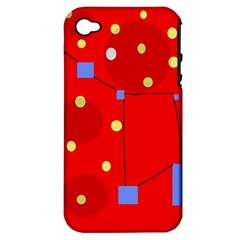 Red sky Apple iPhone 4/4S Hardshell Case (PC+Silicone)