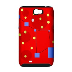 Red sky Samsung Galaxy Note 2 Hardshell Case (PC+Silicone)