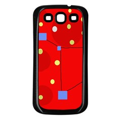 Red sky Samsung Galaxy S3 Back Case (Black)
