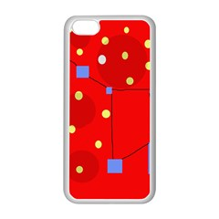 Red sky Apple iPhone 5C Seamless Case (White)