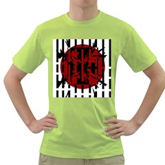 Red, black and white decorative abstraction Green T-Shirt