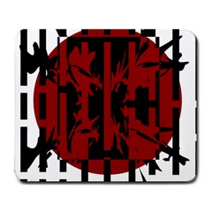 Red, black and white decorative abstraction Large Mousepads