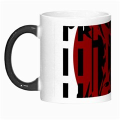 Red, black and white decorative abstraction Morph Mugs