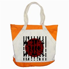 Red, black and white decorative abstraction Accent Tote Bag