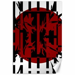 Red, black and white decorative abstraction Canvas 20  x 30