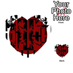 Red, black and white decorative abstraction Playing Cards 54 (Heart)