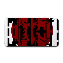 Red, black and white decorative abstraction Medium Bar Mats