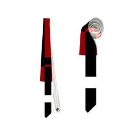 Red, black and white decorative abstraction Neckties (One Side)