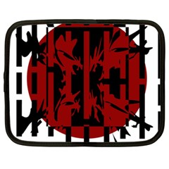 Red, black and white decorative abstraction Netbook Case (XXL)
