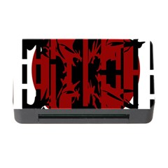 Red, black and white decorative abstraction Memory Card Reader with CF