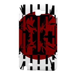 Red, black and white decorative abstraction Samsung Galaxy Note 1 Hardshell Case