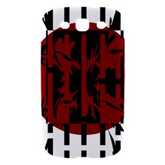 Red, black and white decorative abstraction Samsung Galaxy S III Hardshell Case