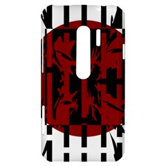 Red, black and white decorative abstraction HTC Evo 3D Hardshell Case
