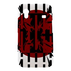 Red, black and white decorative abstraction Samsung Galaxy Ace S5830 Hardshell Case