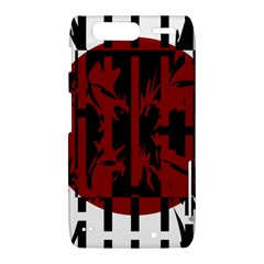 Red, black and white decorative abstraction Motorola Droid Razr XT912