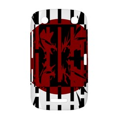 Red, black and white decorative abstraction BlackBerry Curve 9380