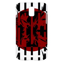Red, black and white decorative abstraction Samsung Galaxy S II Skyrocket Hardshell Case