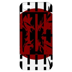 Red, black and white decorative abstraction Apple iPhone 5 Hardshell Case