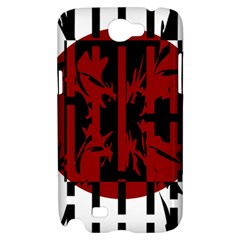 Red, black and white decorative abstraction Samsung Galaxy Note 2 Hardshell Case