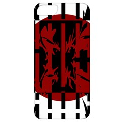 Red, black and white decorative abstraction Apple iPhone 5 Classic Hardshell Case