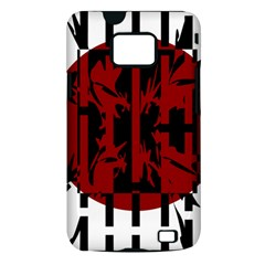 Red, black and white decorative abstraction Samsung Galaxy S II i9100 Hardshell Case (PC+Silicone)