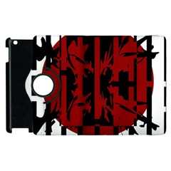 Red, black and white decorative abstraction Apple iPad 3/4 Flip 360 Case