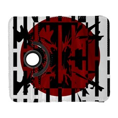 Red, black and white decorative abstraction Samsung Galaxy S  III Flip 360 Case