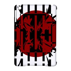 Red, black and white decorative abstraction Apple iPad Mini Hardshell Case (Compatible with Smart Cover)
