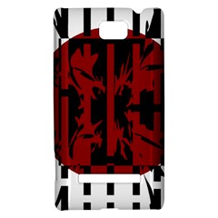 Red, black and white decorative abstraction HTC 8S Hardshell Case