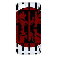 Red, black and white decorative abstraction Apple iPhone 5 Premium Hardshell Case