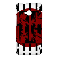 Red, black and white decorative abstraction HTC One M7 Hardshell Case