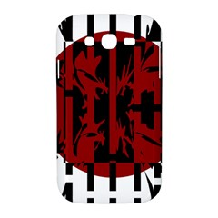 Red, black and white decorative abstraction Samsung Galaxy Grand DUOS I9082 Hardshell Case