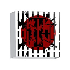 Red, black and white decorative abstraction 4 x 4  Acrylic Photo Blocks